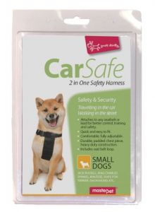 2 IN ONE SAFETY HARNESS SMALL DOG