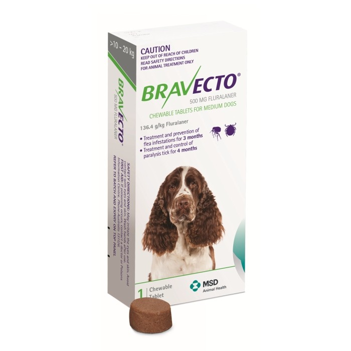 BRAVECTO CHEW MEDIUM 10-20KG GREEN 1S