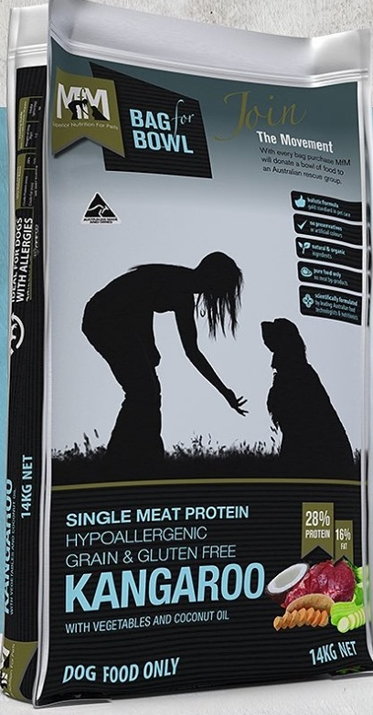 MEALS FOR MUTTS SINGLE PROTEIN GRAIN FREE ROO 14KG