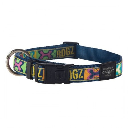ARMED RESPONSE XL DOG COLLAR POP ART