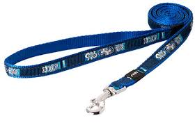 ARMED RESPONSE XL DOG LEAD INDIGO BONES