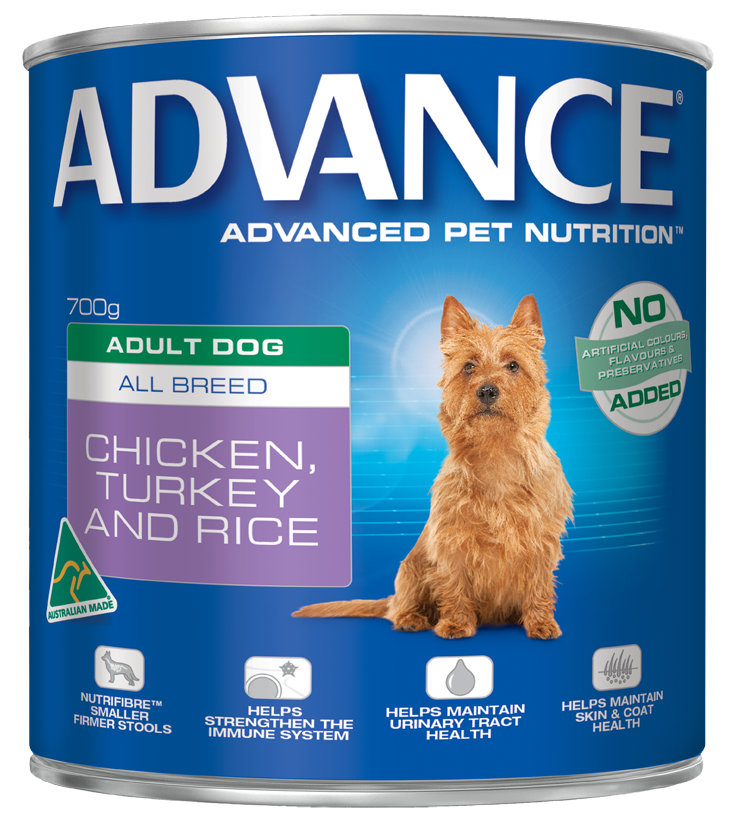 ADVANCE CHICKEN TURKEY & RICE 700G