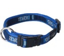 BEACH BUM LARGE  DOG COLLAR INDIGO BONES