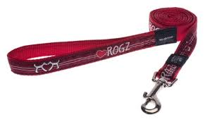 BEACHBUM LARGE DOG LEAD RED HEART