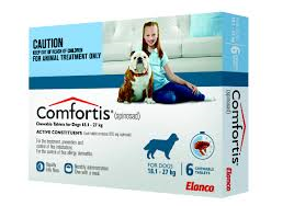 COMFORTIS CHEWABLE TABLETS FOR DOGS 18.1-27KG 6 CHEWS