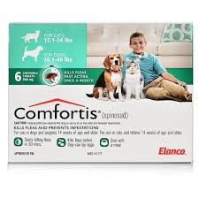 COMFORTIS CHEWABLE TABLETS FOR DOGS 9.1-18KG & CATS 5.5-11.2KG 6 CHEWS