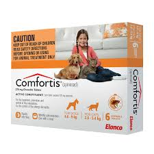 COMFORTIS CHEWABLE TABLETS FOR DOGS 4.6-9KG & CATS 2.8-5.4KG 6 CHEWS