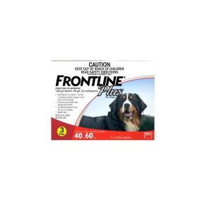 FRONTLINE PLUS EXTRA LARGE DOG (RED) 3PK