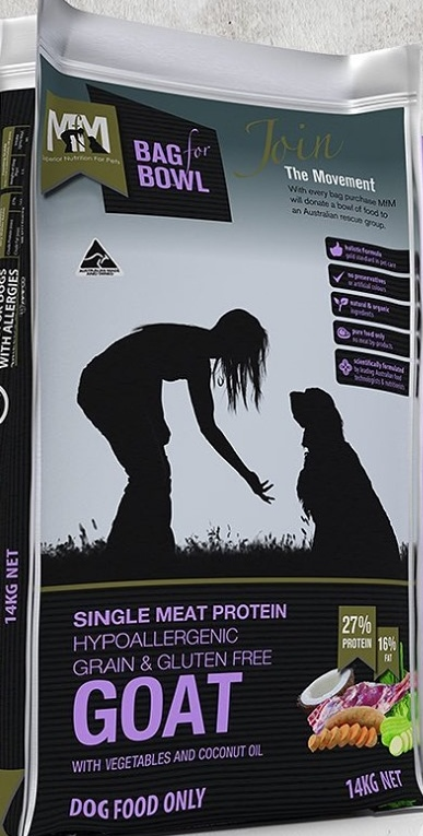 MEALS FOR MUTTS SINGLE PROTEIN GRAIN FREE GOAT 14KG