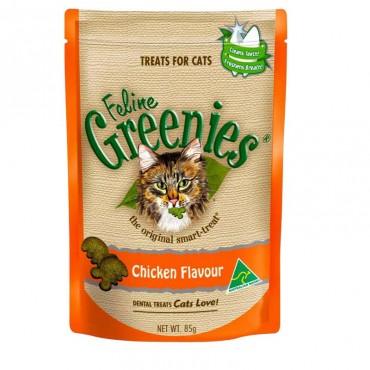 GREENIES CAT CHICKEN 85G