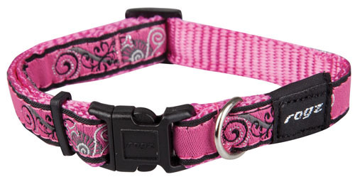 JELLYBEAN SMALL DOG COLLAR IN PINK BONE