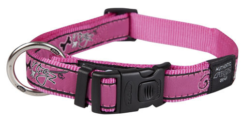 ROGZ BEACH BUM COLLAR PINK BONE