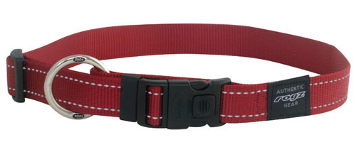 ROGZ DOG FANBELT COLLAR RED