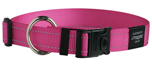 ROGZ DOG FANBELT COLLAR PINK