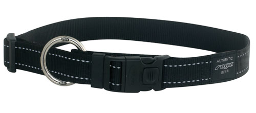SNAKE MEDIUM DOG COLLAR IN BLACK