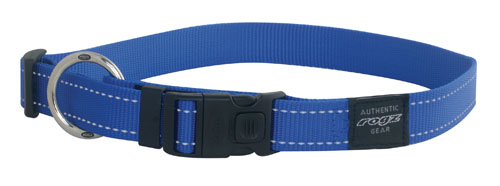 SNAKE MEDIUM DOG COLLAR IN BLUE