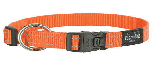 SNAKE MEDIUM DOG COLLAR IN ORANGE