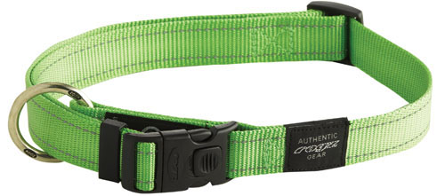 SNAKE MEDIUM DOG COLLAR IN LIME