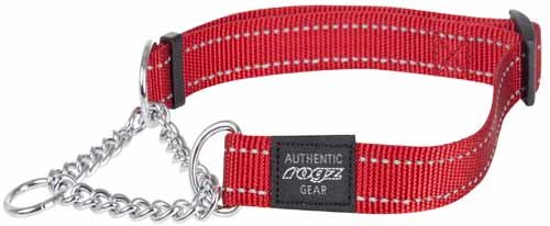 ROGZ FANBELT OBEDIENCE COLLAR RED