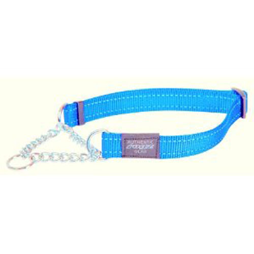 SNAKE MEDIUM  DOG OBEDIENCE DOG COLLAR IN TURQUOISE