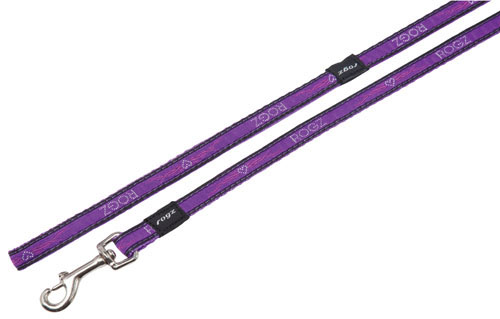 ARMED RESPONSE EXTRA LARGE DOG LEAD IN PURPLE CHROME