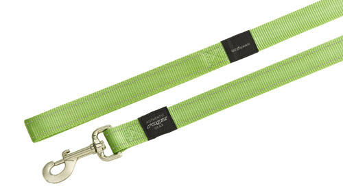 LUMBERJACK EXTRA LARGE DOG LEAD IN LIME