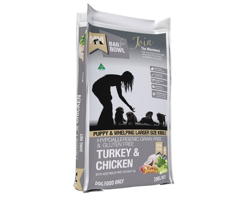MEALS FOR MUTTS PUPPY TURKEY & CHICKEN GRAIN FREE LARGE KIBBLE 20KG