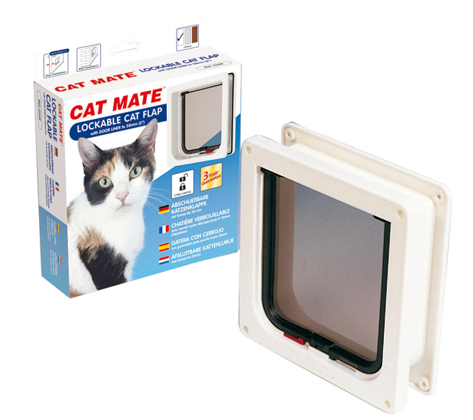 CAT MATE LOCKABLE CAT FLAP WITH DOOR LINER 2WAY