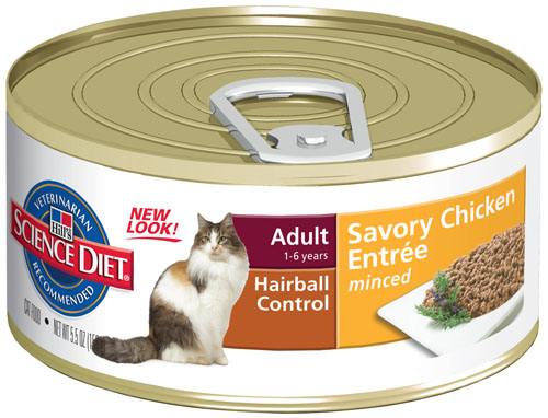 SCIENCE DIET CAT HAIRBALL CHICKEN 156G X 24