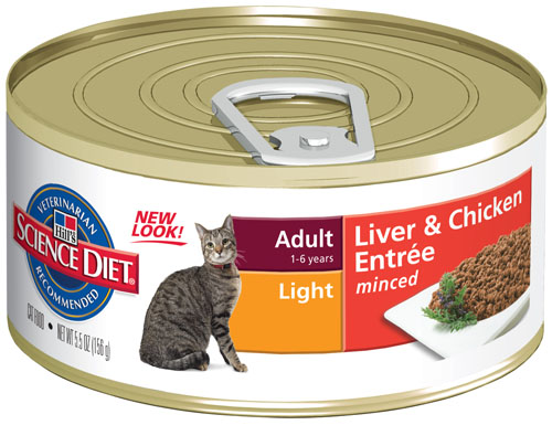 SCIENCE DIET CAT LIGHT 156G X24