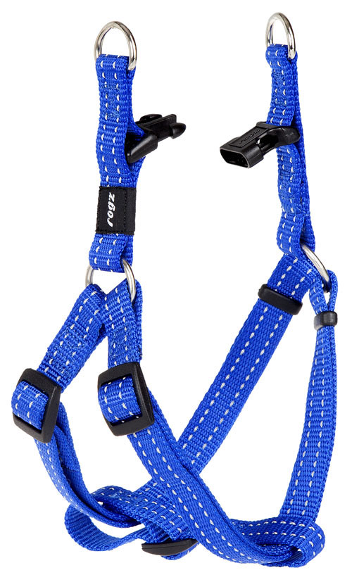SNAKE MEDIUM  DOG STEP IN HARNESS IN BLUE