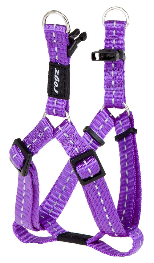 SNAKE MEDIUM  DOG STEP IN HARNESS IN PURPLE