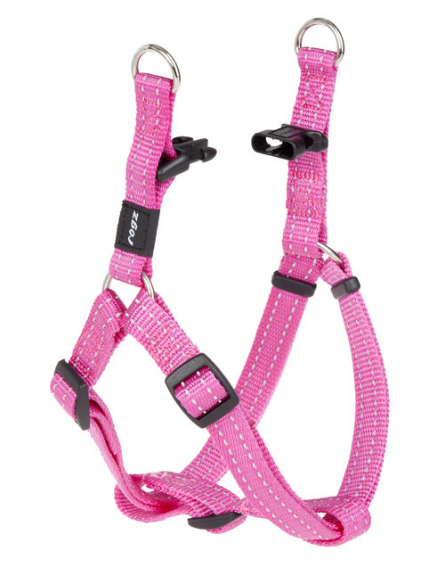 SNAKE MEDIUM  DOG STEP IN HARNESS IN PINK