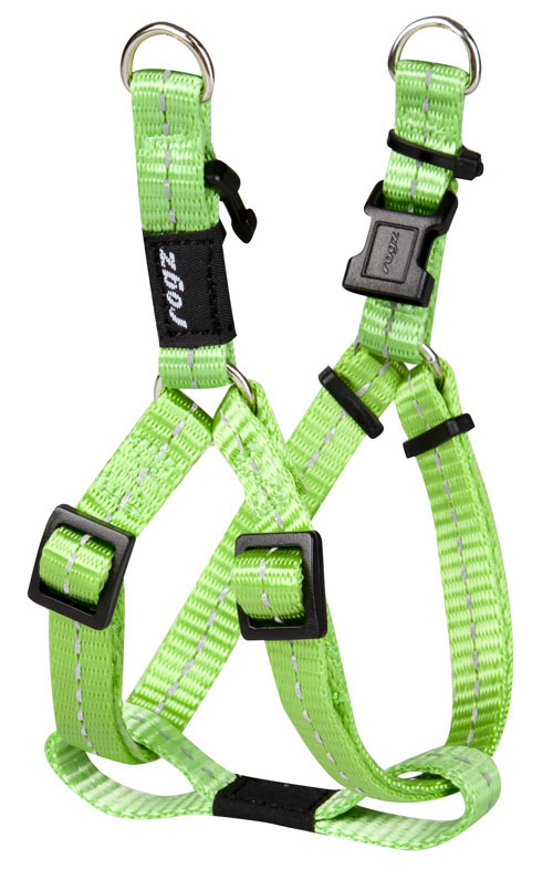 SNAKE MEDIUM DOG STEP IN HARNESS IN LIME