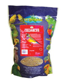 VETAFARM FINCH AND BUDGIE CRUMBLES 2KG