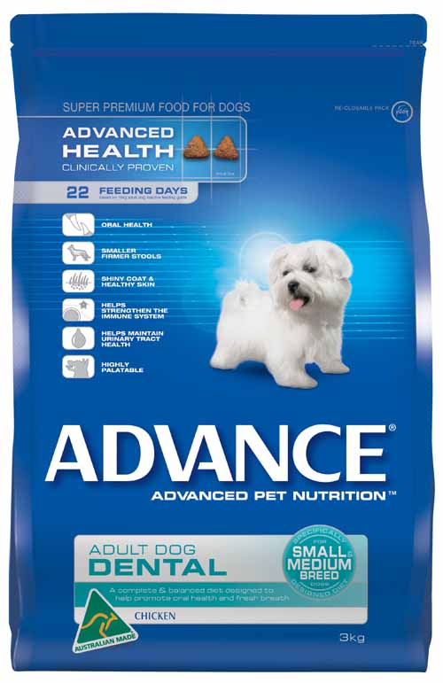 ADVANCE DOG DENTAL SMALL/MEDIUM BREED 3KG