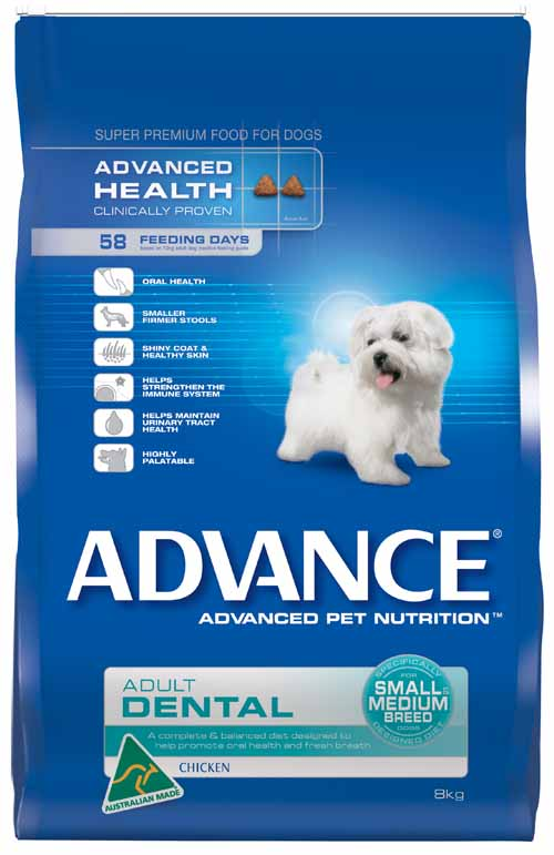 ADVANCE DOG DENTAL SMALL/MEDIUM BREED 8KG