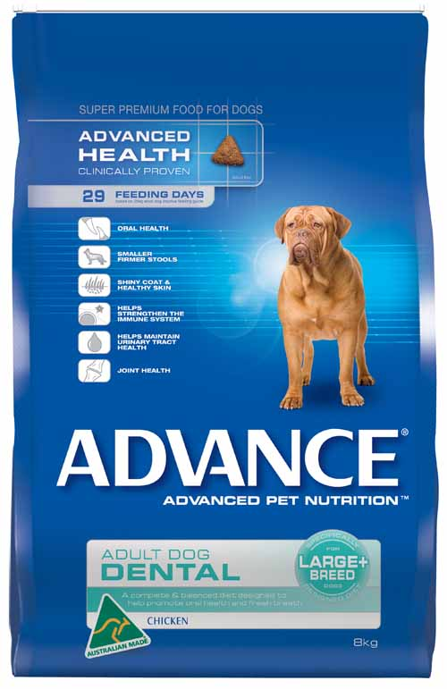 ADVANCE DOG DENTAL LARGE/GIANT BREED 8KG