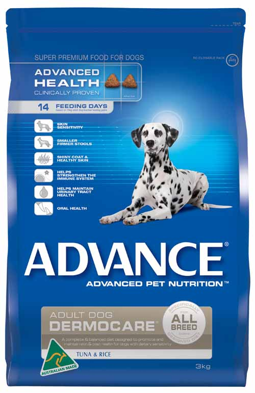 ADVANCE DERMOCARE TUNA AND RICE 3KG