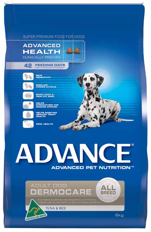 ADVANCE DERMOCARE TUNA AND RICE 8KG
