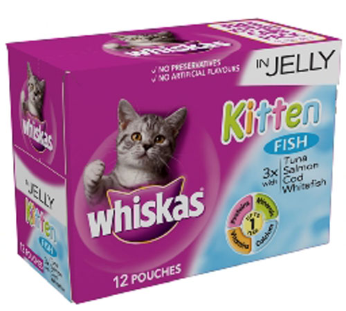 WHISKAS KITTEN POUCHES 85GX12