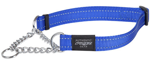 ROGZ DOG FANBELT OBEDIENCE  CHOKER BLUE