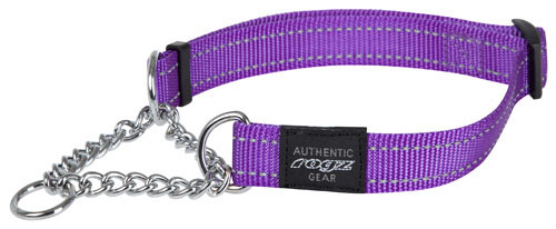 ROGZ LUMBERJACK EXTRA LARGE DOG OBEDIENCE DOG COLLAR IN PURPLE