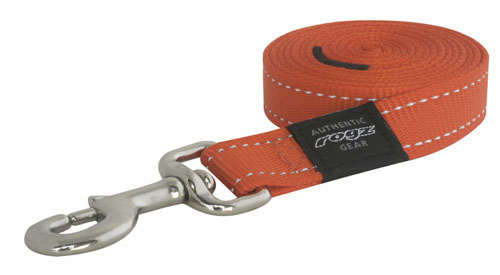 ROGZ LUMBERJACK EXTRA LARGE DOG LEAD IN ORANGE