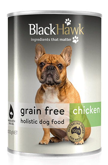 BLACK HAWK DOG GRAIN FREE CAN CHICKEN 400G