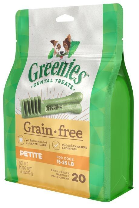 GREENIES GRAIN FREE PETITE 340G