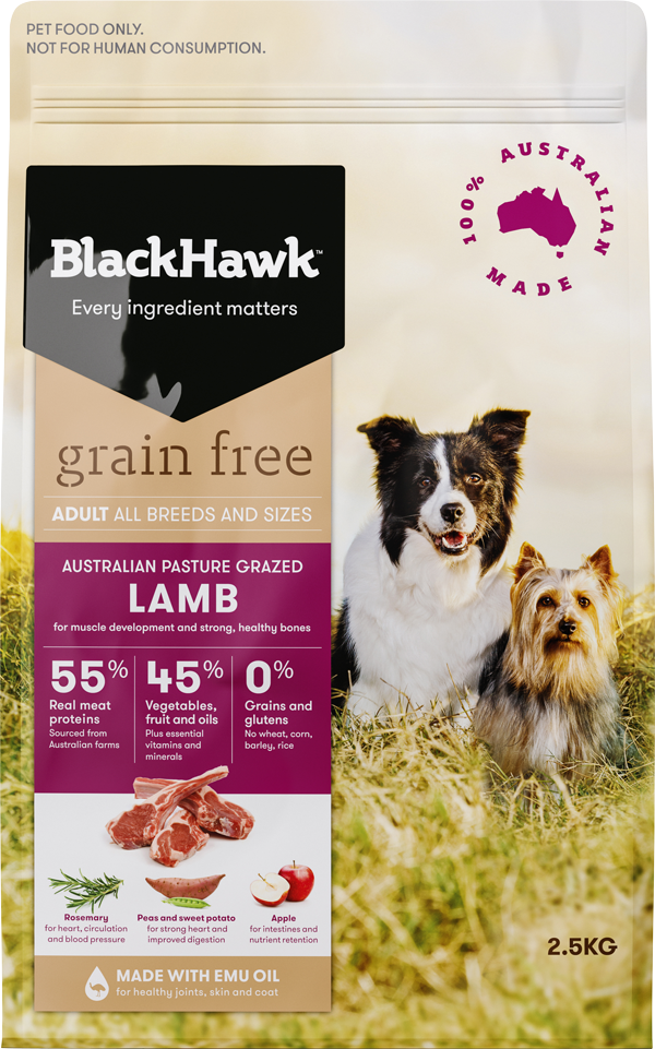 BLACK HAWK DOG GRAIN FREE LAMB 2.5KG