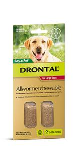 DRONTAL CHEWABLE TABS 35KG X 2