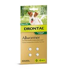 DRONTAL SMALL DOG  3KG  4 TABS