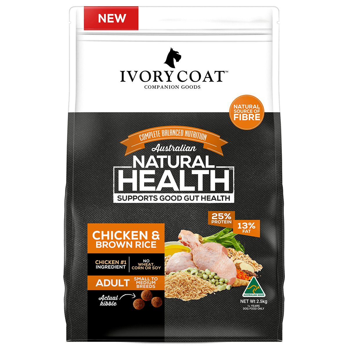 IVORY COAT CHICKEN & BROWN RICE ADULT 18KG
